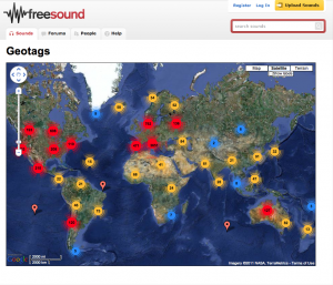 freesound.org Soundmap