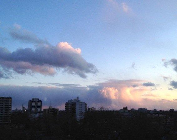 Toronto Skyline with Rain Approaching