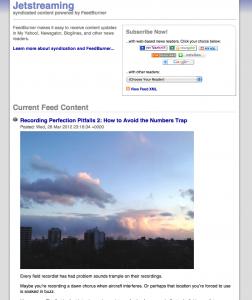 Feedburner RSS Sample Image