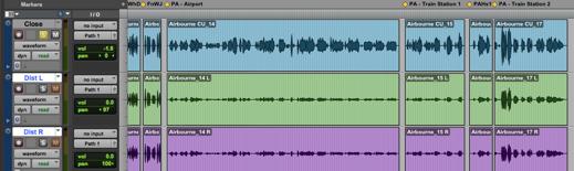 Pro Tools Edit Screen