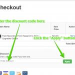 Discount Code Step 2
