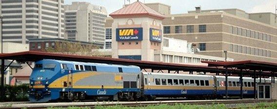 Via Train in Station, courtesy Balcer