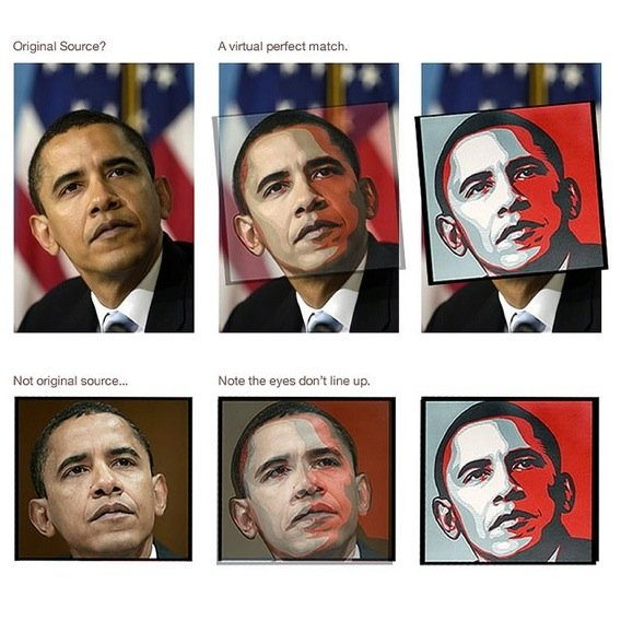 Obama Hope Poster Comparison, courtesy stevesimula