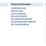 PayPal Profile