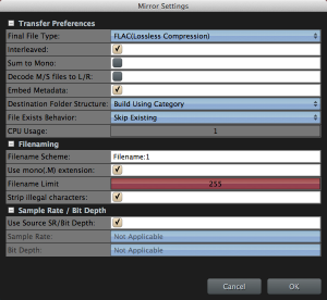 Soundminer 4.5 Mirror Settings