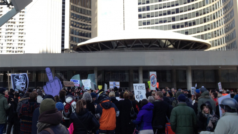Rob Ford Protest Hero