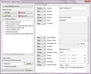 MetadataTouch Pro metadata entry screen