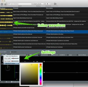Soundminer 4.5 Inline Waveform (click for larger image)