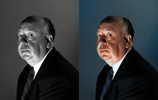 Hitchcock Colorized by Sanna Dullaway