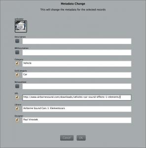 Batch set metadata