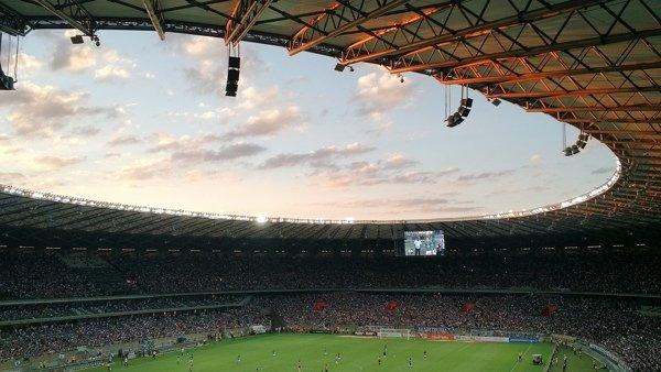 Soccer Stadium and Sky