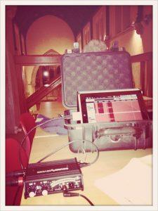Michael's custom iPad/MixPre-D rig