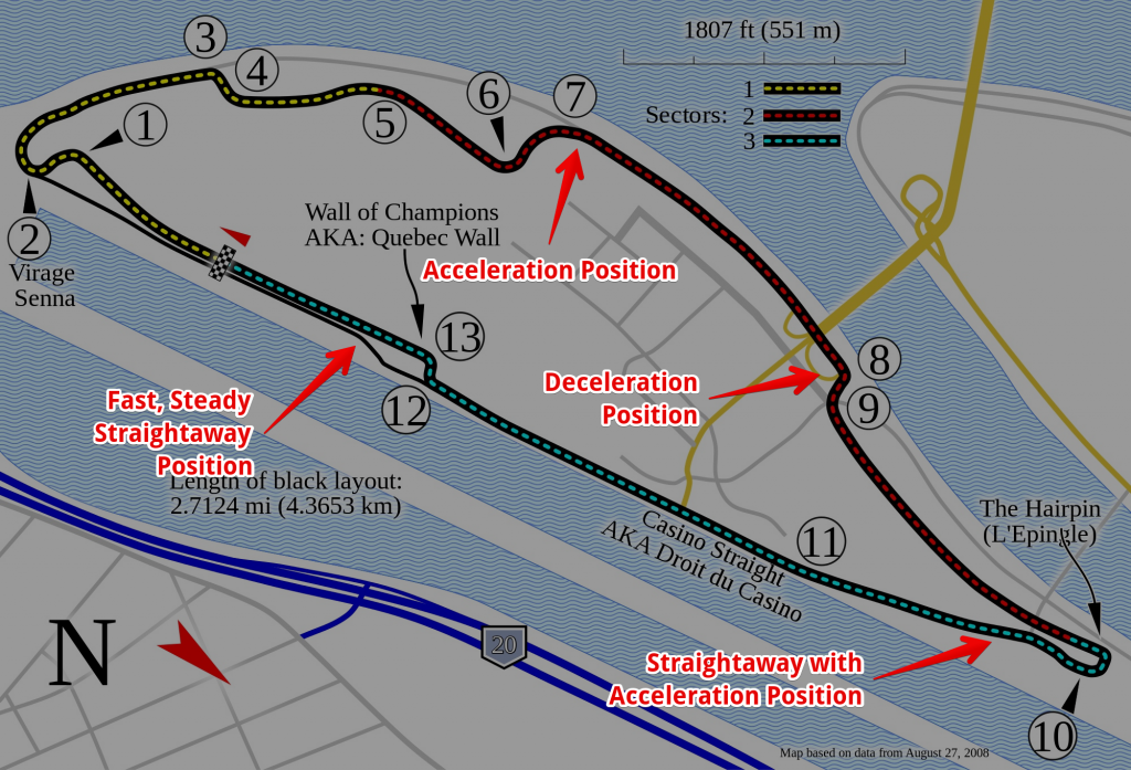 Circuit Gilles Villeneuve, courtesy Will Pittenger - Light, Labeled