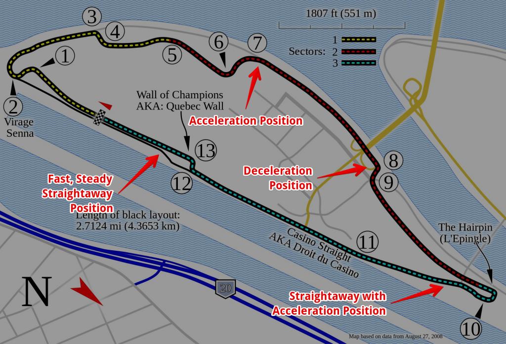 Circuit Gilles Villeneuve, courtesy Will Pittenger - Light, Labeled
