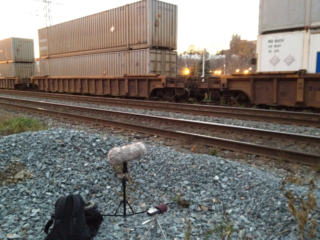 Investigative field recording style: researching & recording freight trains