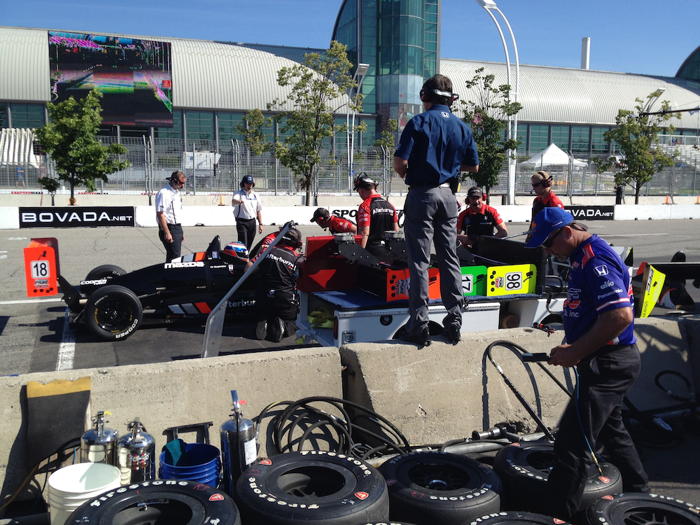 Stealth field recording style: IndyCar pit crews