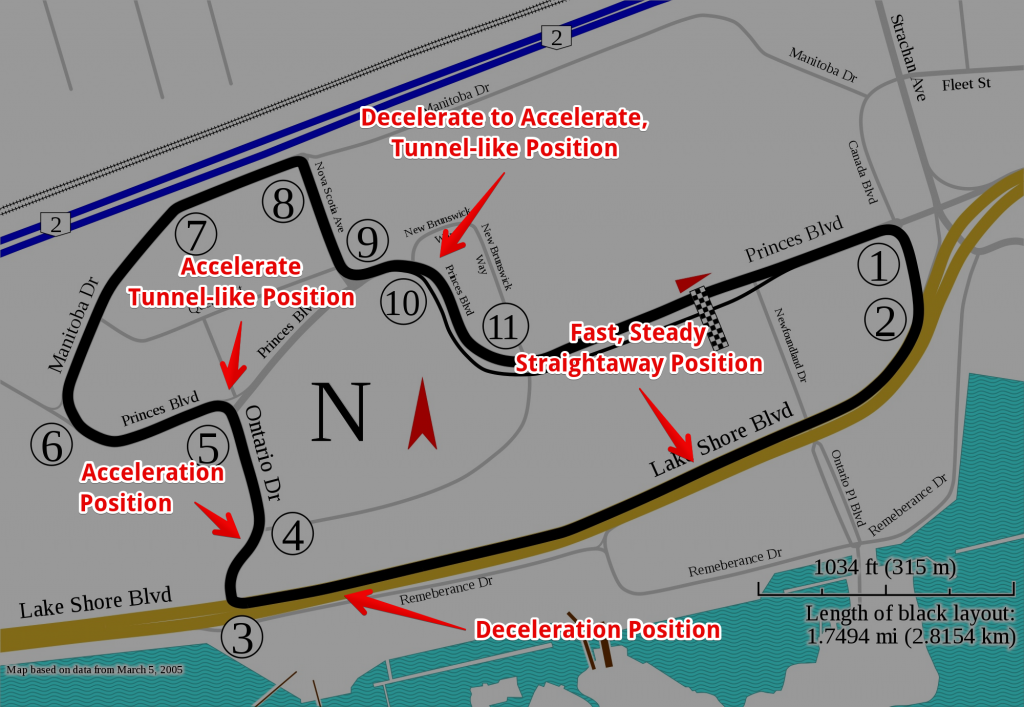 IndyCar Track, courtesy Will Pittenger - Light, Labeled