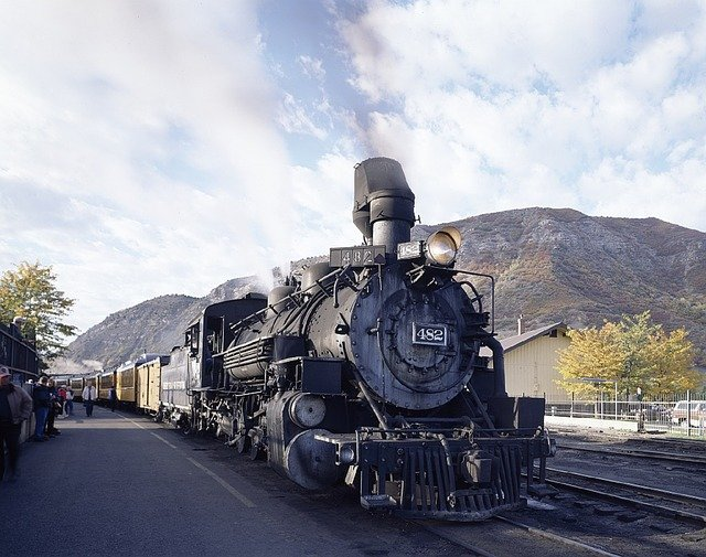 Steam Train - Stopped at Station