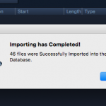 Import complete!