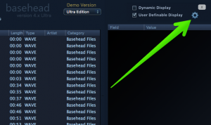 """Click the """"User Definable Display"""" gear"""