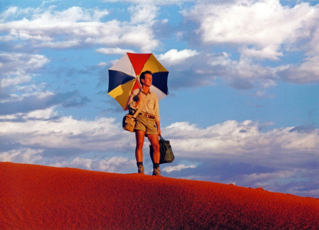 Gordon Hempton in the Kalahari Desert