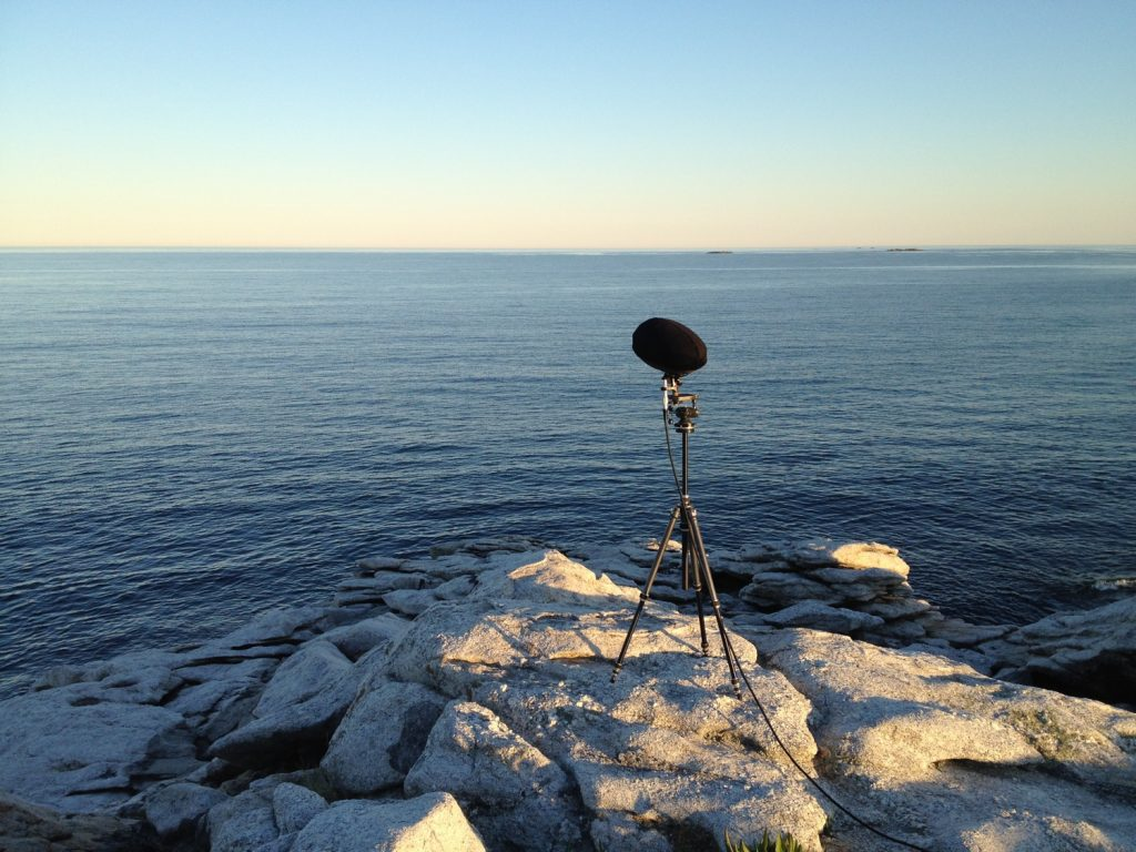 Ambisonic recording on the Maine coast