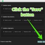 "Click the ""Save"" button"