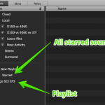 Soundly 3 Browsing and Playback Sidebar Playlists and Star