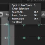 Soundly 4 Playback Waveform Right Click