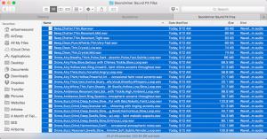 Select sound files