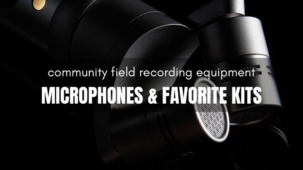 Month of Field Recordists Community Equipment Microphones and Favorite Kits
