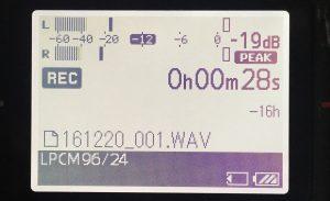 Sony PCM-D100 Display