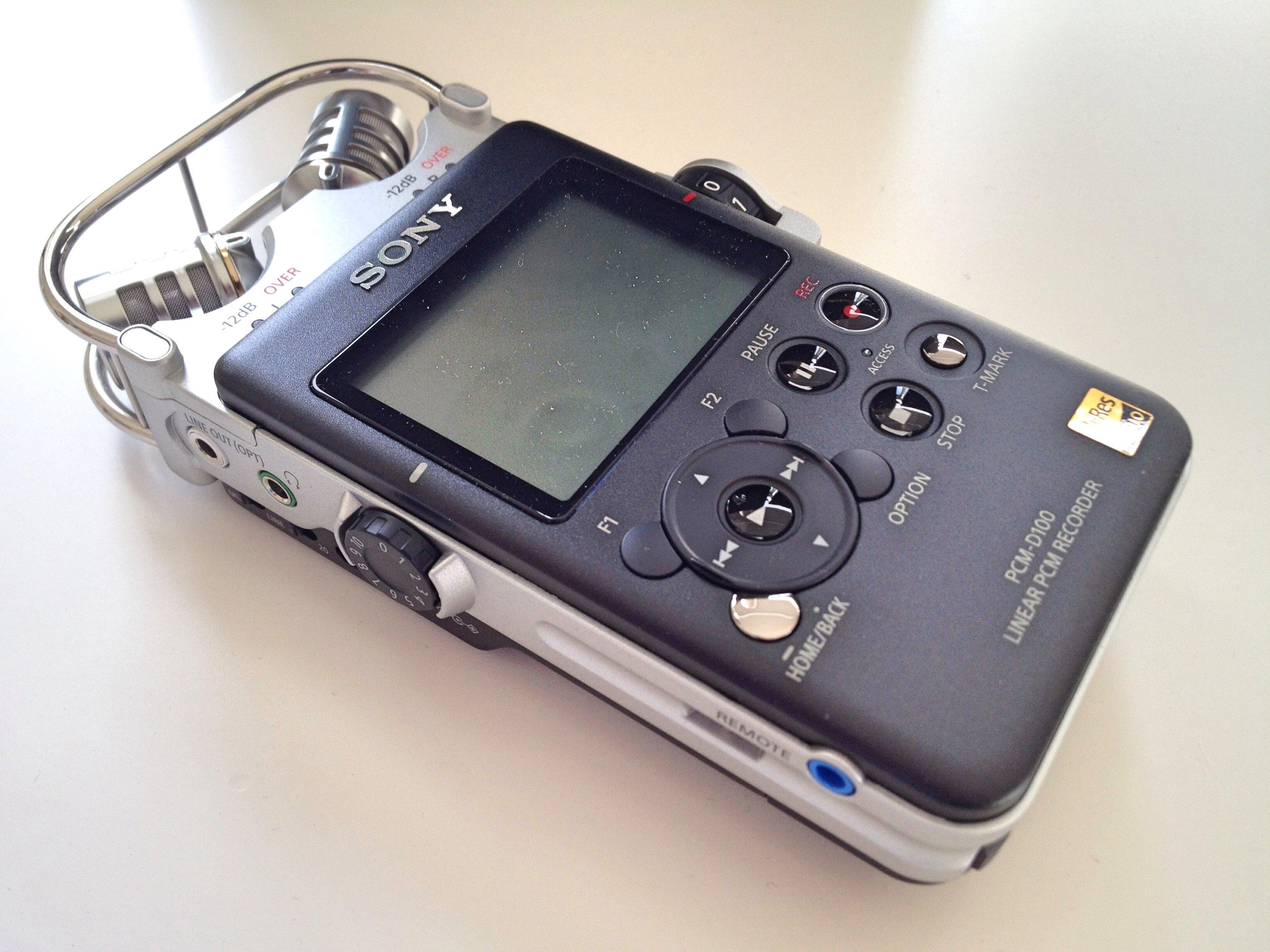 Sony PCM-D100 Angle