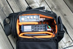 PLC gear bag with Zoom F8 and ST450 preamp