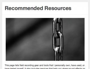 Recommended Resources Screenshot