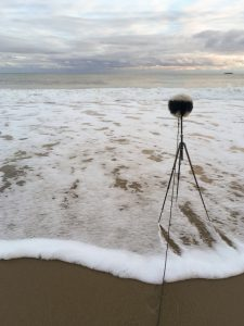 Reid state park ambisonic recording on beach with st450