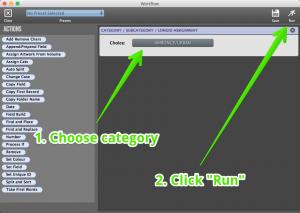 Apply 7 Workflow Window Run