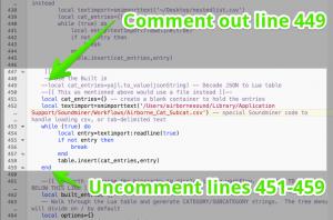 Lua Mod 1 Comment instructions