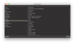 MetaTag Editor Categories