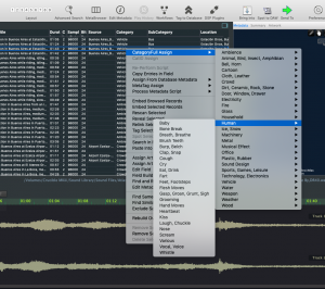 Soundminer Category List Right Click