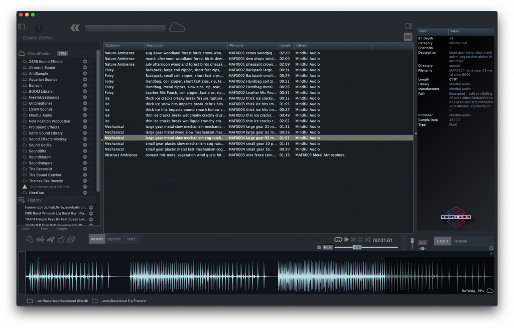 BaseHead Creator Edition - Results